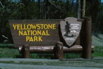 Bord 'Yellowstone National Park'